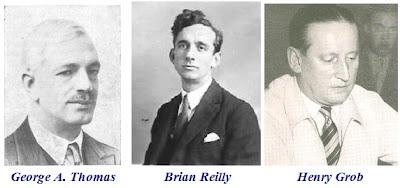Sir George A. Thomas, Brian Reilly y Henry Grob