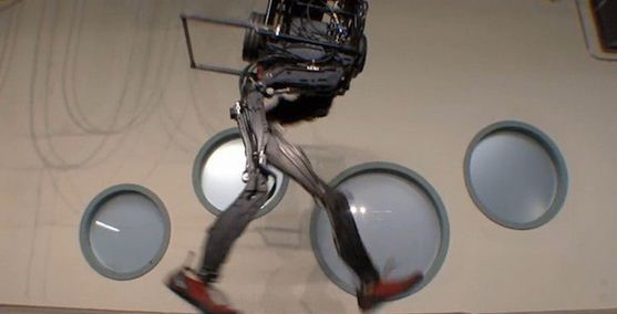 It's called PETMAN - the robot, biped, designed by Boston Dynamics, which can mimic human movements