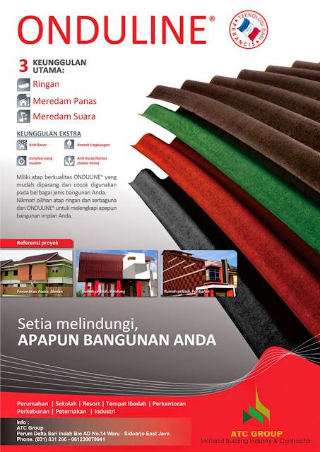 Brosur Atap Onduline - Distributor Atap PVC | UPVC SURABAYA