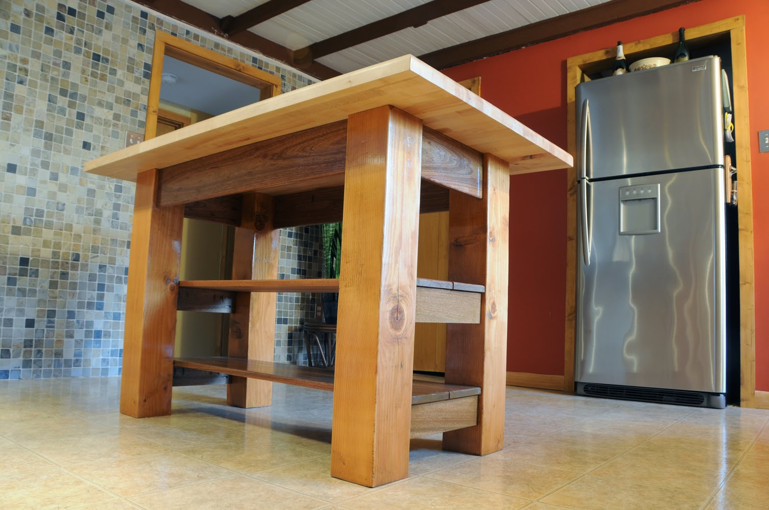 Diy Kitchen Island Design Plans Brian Pistone 39s Daily Pictures Kitchen Island Finished