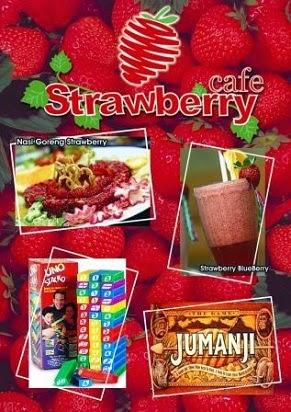 Daftar Harga, Menu Café Strawberry, Tanjung Duren, Gondangria, Nasi goreng strawberry, Spaghetti Strawberry, Initial S, Strawberry Volcano, Strawberry sains (ramuan cinta),