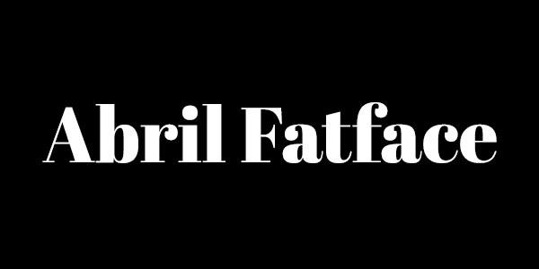 Free Bold Serif Font - Abril FatFace