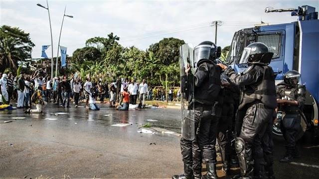 Protest erupt as Gabon's incumbent President Ali Bongo narrowly wins re-election