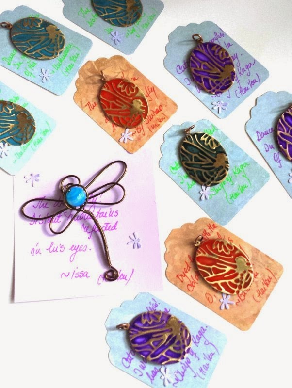 Art Charm Exchange (Bead of Courage): Soar! Dragonflies: vintaj, embossing, patina, metal work, ooak art charm :: All Pretty Things