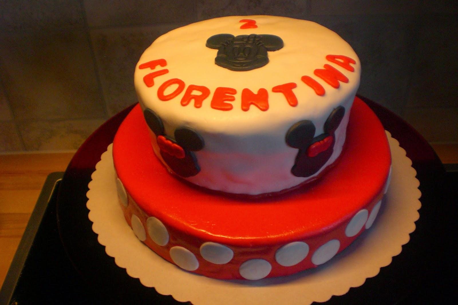 Rot Knappchen Backt 16 08 2014 Minnie Maus Torte Fur Florentina