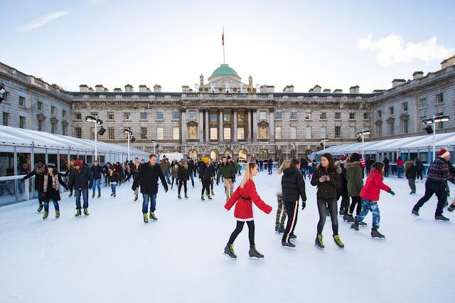Pista di pattinaggio alla Somerset house-Londra