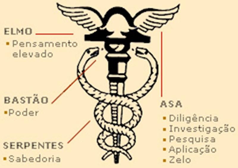 0021ce0fed7 Bastão entrelaçado com duas serpentes