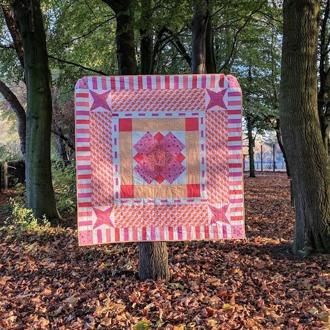 modern tula pink quilt