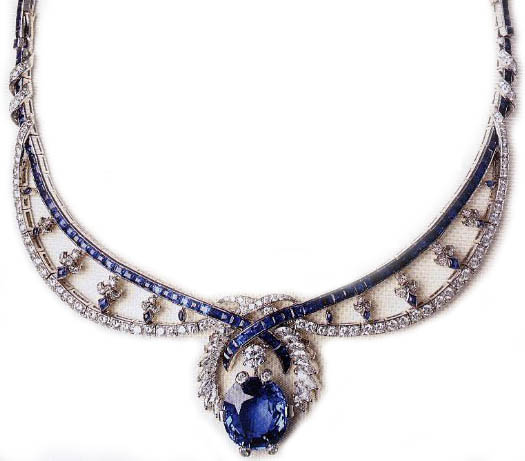 Sapphire Tiara Mellerio France Marie Therese Duchess of Montpensier