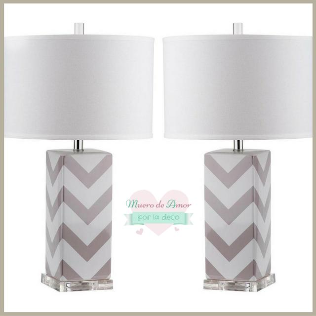Lámparas geométricas con mucho glamour