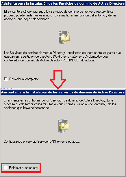 Eliminación de los servicios de Active Directory.