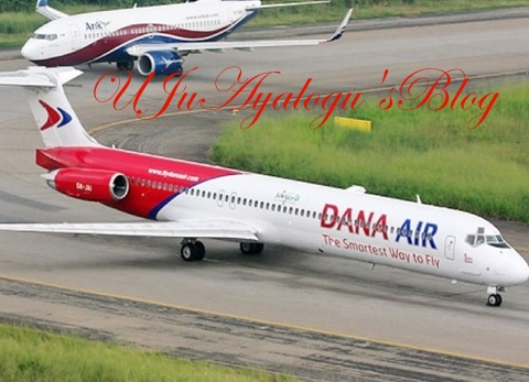 Just in: Narrow escape for passengers as door of aircraft belonging to Dana Air falls off while landing