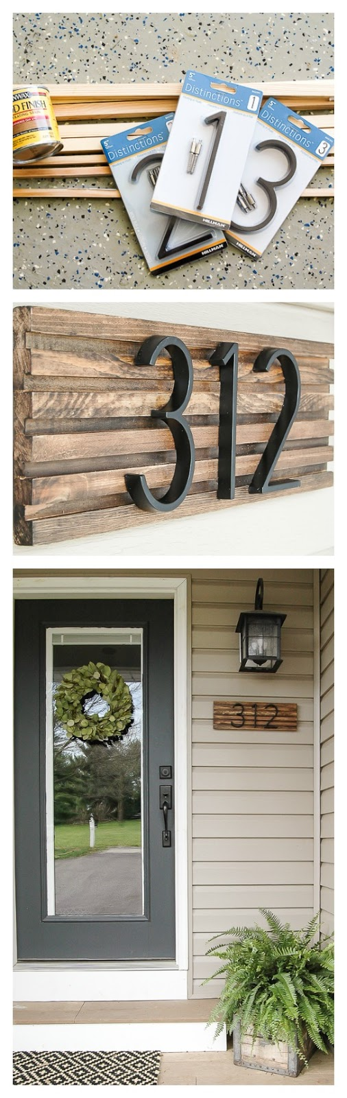 a8582a43f5c How to Make a Modern House Number Sign