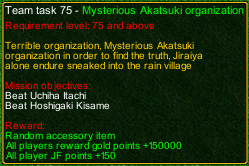 naruto castle defense Mysterious Akatsuki organization task detail