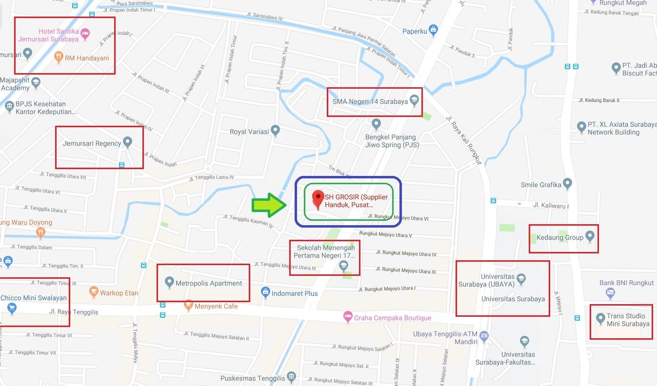 Peta Lokasi Google Maps tempat SH GROSIR - SupplierHanduk.com