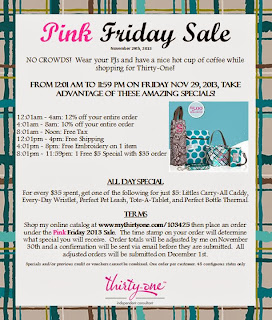 http://ourhomeschoolreviews.blogspot.com/2013/11/thirty-one-gifts-pink-friday-sale.html
