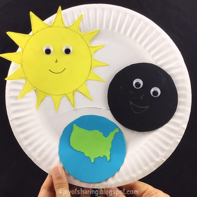 How to make solar eclipse craft with preschool kids?