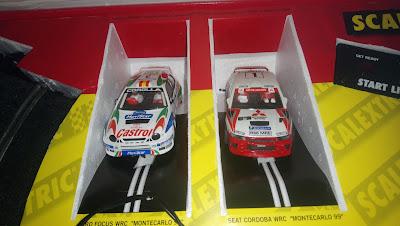 Coches del Scalextric RAC Rally Tecnitoys Versión 2000