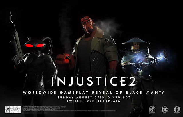Injustice 2 Fighter Pack Two New Player Announcement with Hellboy, Raiden and Black Manta