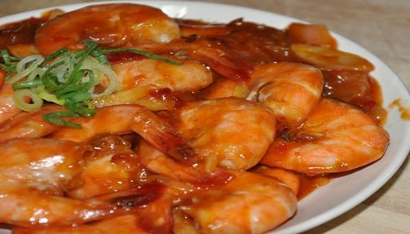 Resep nusantara udang saus Padang spesial