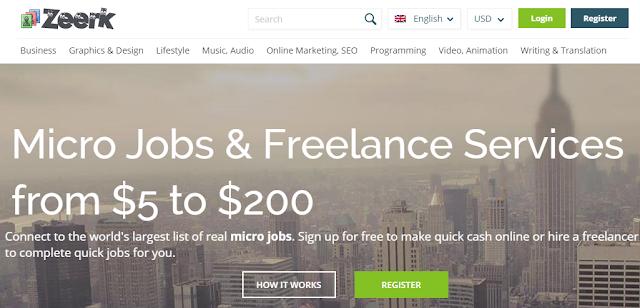 make money online on zeerk