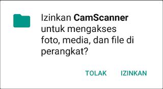 izinkan kamera scanner akses foto