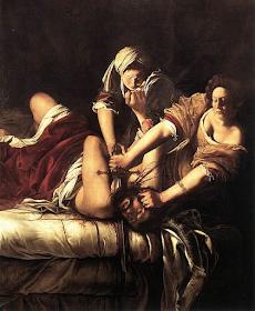 Judith slaying Holofernes by Artemisia Gentileschi, 1614–18