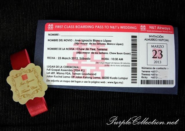 Royal Blue & Maroon Wedding Boarding Pass Card, Royal Blue and Maroon, Wedding, Boarding Pass Card, Boarding Pass Pocket, Royal Blue, Maroon, Marriage, Classy, Pass Card, Invitation
