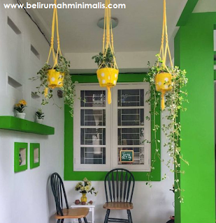 Perpaduan warna hijau cat rumah minimalis