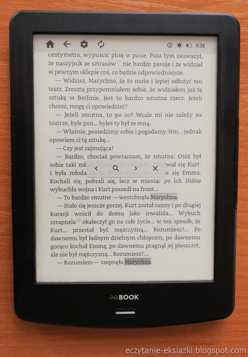 PocketBook Reader InkBOOK LUMOS – wyniki wyszukiwania w tekście