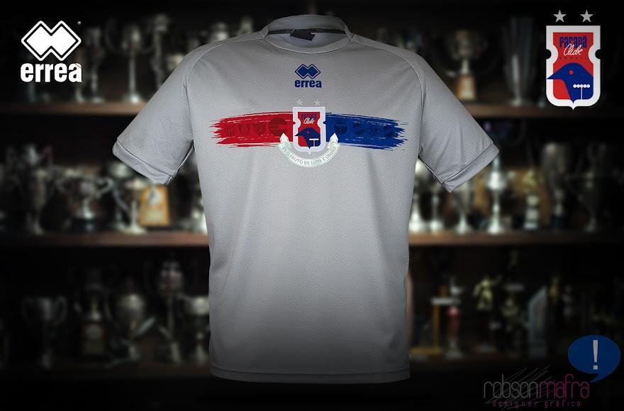 Camisa de Goleiro Paraná Clube, na cor cinza, produzida pela Erreà