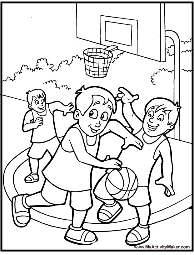 Basketball Printable Coloring Pages