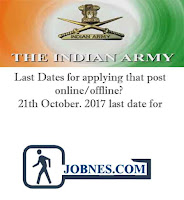 Join Indian Army recruitment 2017  for various posts  apply online here
