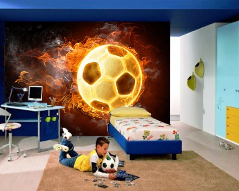 Wallpaper Dinding Kamar Anak Laki-Laki Tema Bola