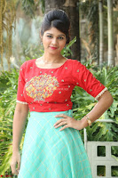 Lucky Shree Looks super cute in Bright Red Green Anarkali Dress ~  Exclusive 048.JPG
