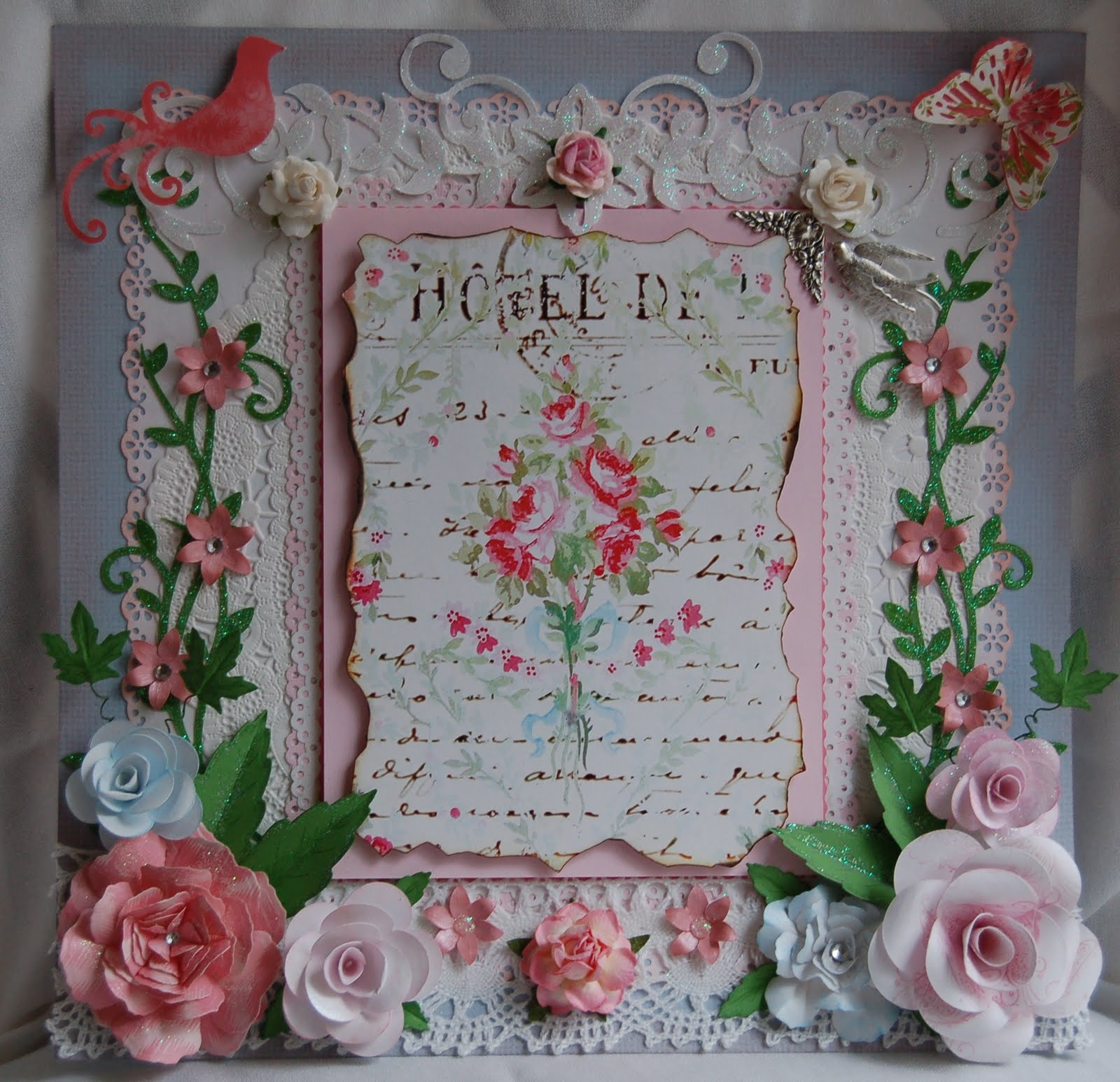 Treasured Paper Art: Shabby Chic Scrapbook Layout