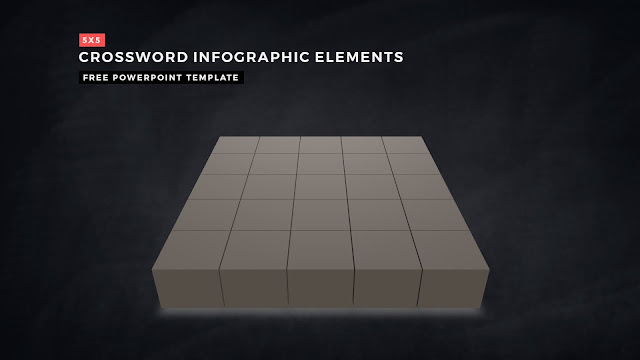 Crossword Puzzles Infographic Elements for PowerPoint Templates with Dark Background Slide 3