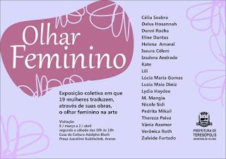 Exposição Olhar Feminino na Casa de Cultura de Teresópolis