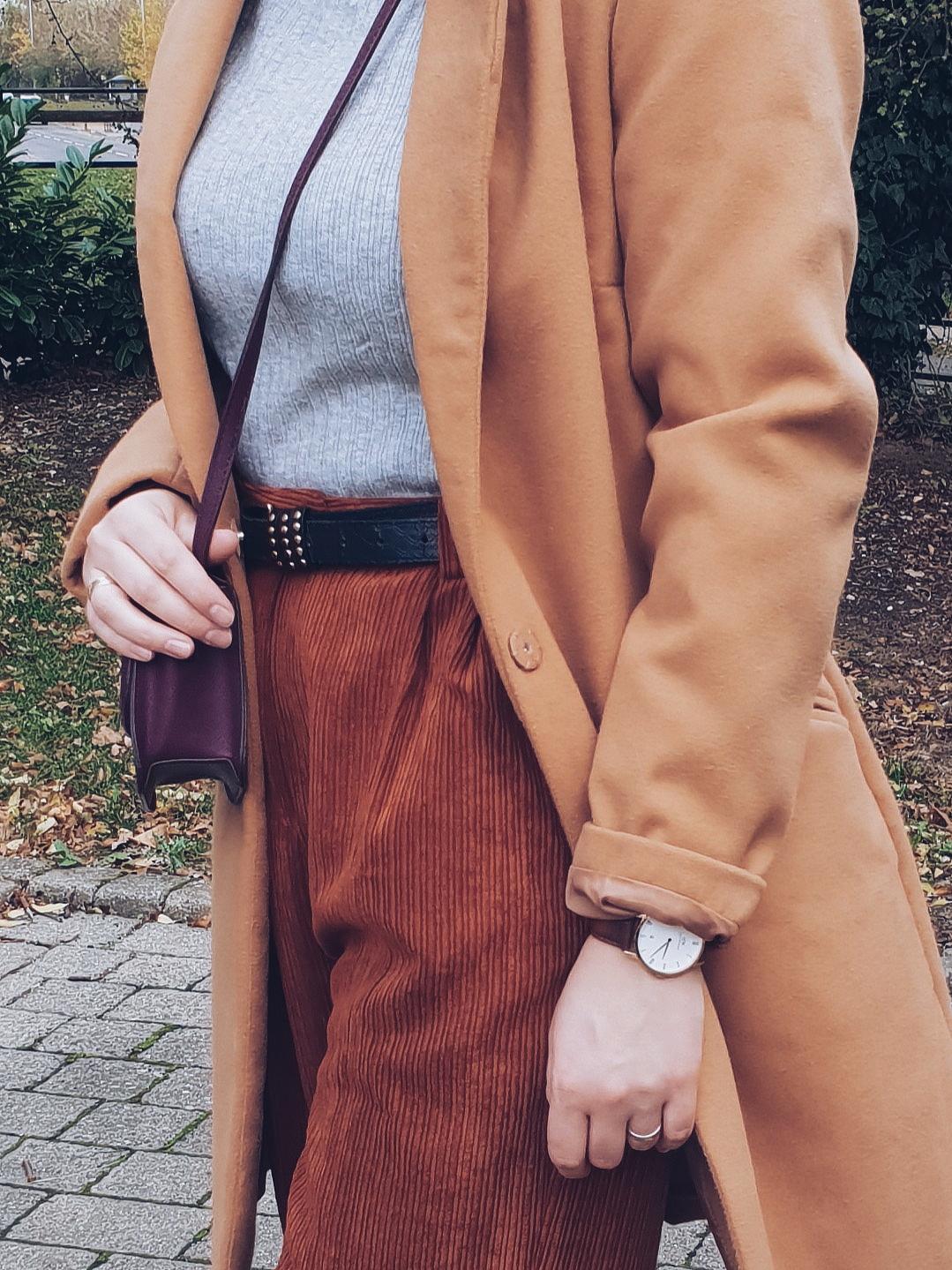 Corduroy culottes & camel coat czyli sztruks, kuloty i karmel