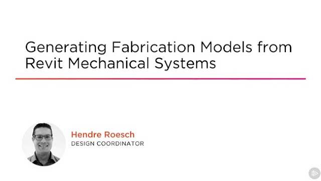 Generating Fabrication Models From Revit Mechanical Systems