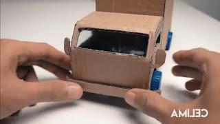 Cara Membuat Kerajinan Tangan Miniatur Truk Dari Kardus