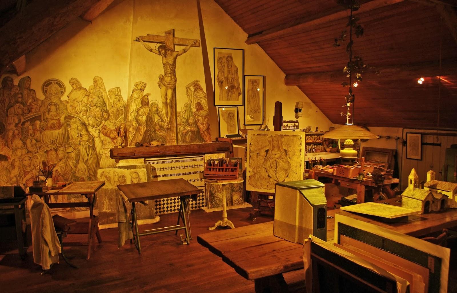 Portes ouvertes la maison atelier foujita de villiers le for Atelier de la maison