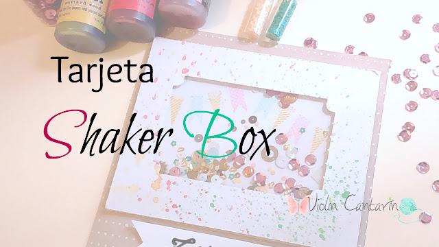 tutorial, scrapbook, scrap, tarjeta, shaker box, adornos scrapbook, violín cantarín
