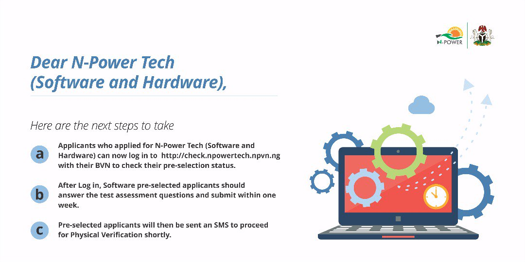 DeDTjQ6WsAAbYXe NPOWER UPDATE :HOW TO CHECK  NPOWER TECH ( SOFTWARE AND HARDWARE) APPLICANTS  PRE-SELECTED STATUS