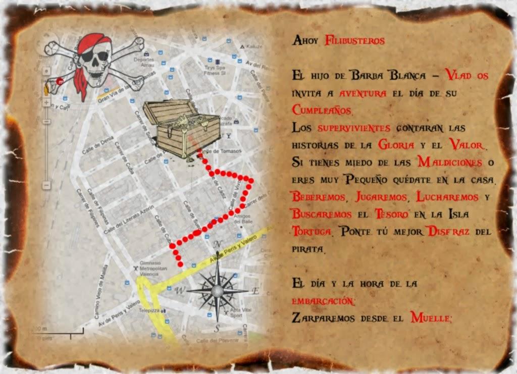 invitacion mapa de la fiesta