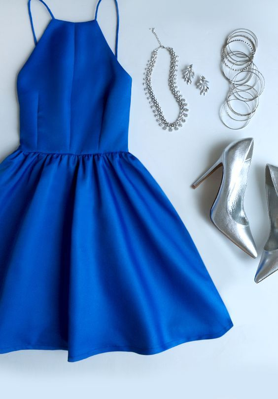 Navy-Blue -Outfit-Silver-jewelery
