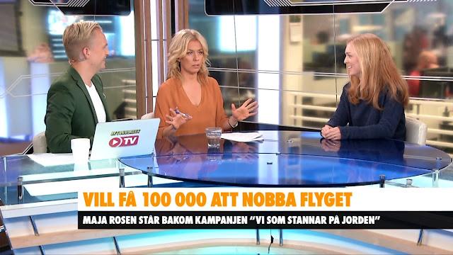 Foto från när Maja Rosén är med i Aftonbladet Morgon