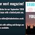 Write for our September Magazine