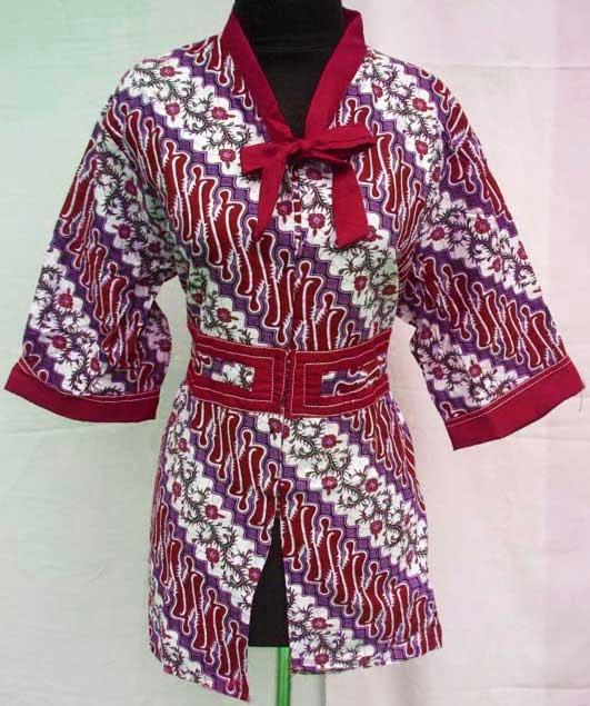 Contoh Baju Seragam Batik Sekolah: Contoh Model Seragam Batik Kantor Modern