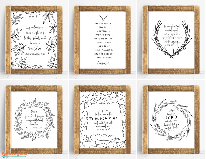 Fall Bible Verse Printables